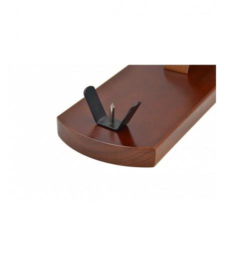 Jamonero de nogal, cuchillo, afilador y funda para tu jamon en www.jamonypico.com