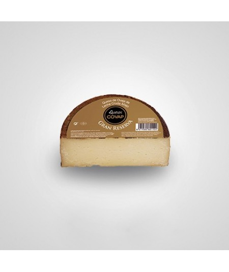 Gran Reserva Cheese by COVAP, made with 100% raw milk. a robust cheese with an intense flavor.