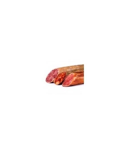 Comprar Oferta especial surtido embutidos de bellota ibéricos 50% raza ibérica: lomo, chorizo y salchichón de Julián Becerro