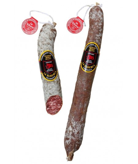Special acorn fed Guijuelo delicatessen offer: Enjoy a Spanish pork loin, a Spanish smoked chorizo and a Spanish Sausage.  We de